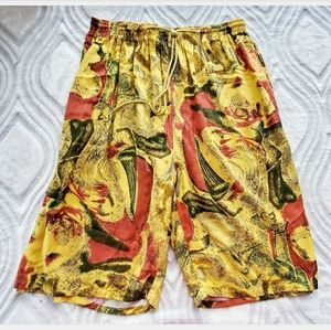 Vintage 90's Fashion Print Long Shorts by Marquis